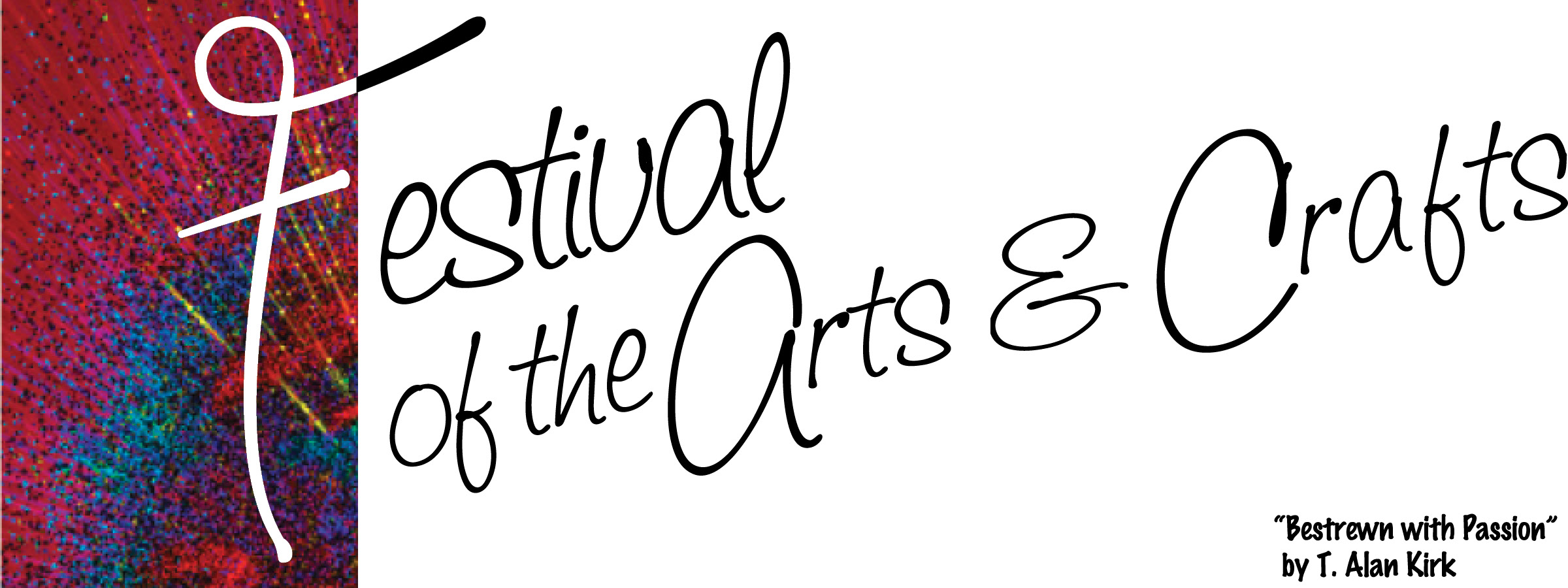 Festival of the Arts & Crafts Logo with colorful paint splatter background